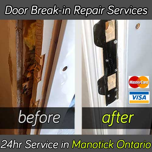 Door break in repair service in Manotick Ontario